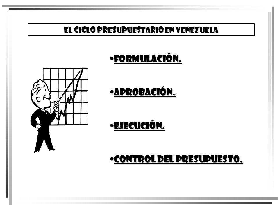 El Ciclo Presupuestario en Venezuela
