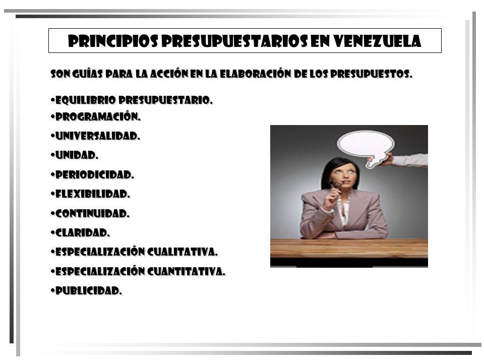 Principios Presupuestarios en Venezuela
