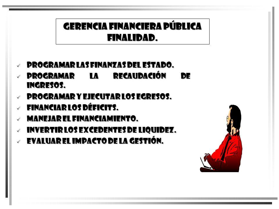 GERENCIA FINanCIERA PÚBLICA FINALIDAD.