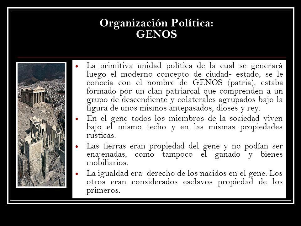 Organización Política: GENOS