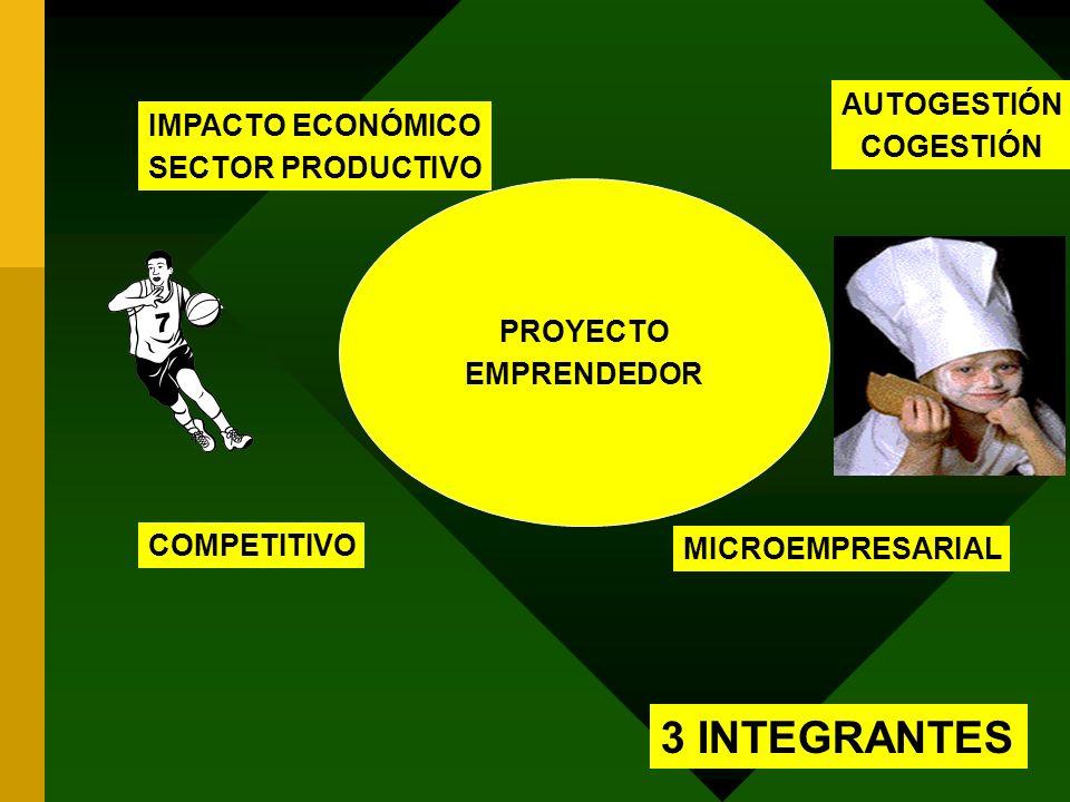 3 INTEGRANTES AUTOGESTIÓN IMPACTO ECONÓMICO COGESTIÓN