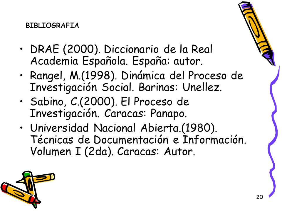 DRAE (2000). Diccionario de la Real Academia Española. España: autor.