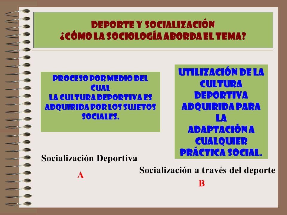 Deporte y Socialización ¿CÓmo la sociología aborda el tema