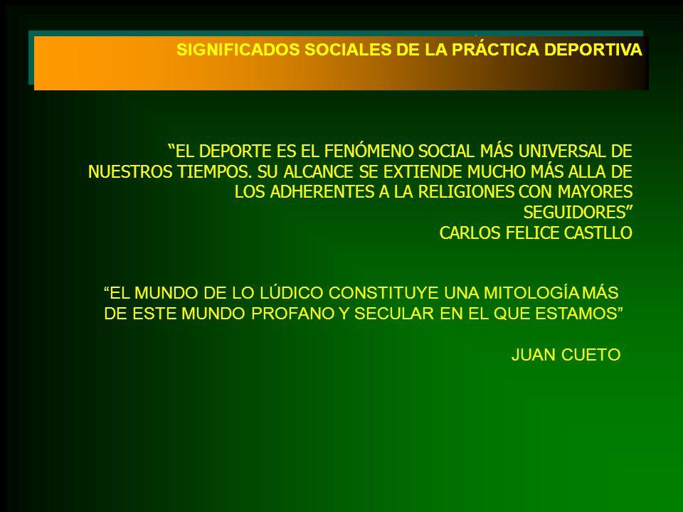 SIGNIFICADOS SOCIALES DE LA PRÁCTICA DEPORTIVA