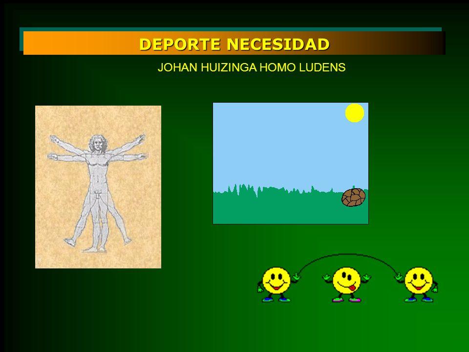 DEPORTE NECESIDAD JOHAN HUIZINGA HOMO LUDENS