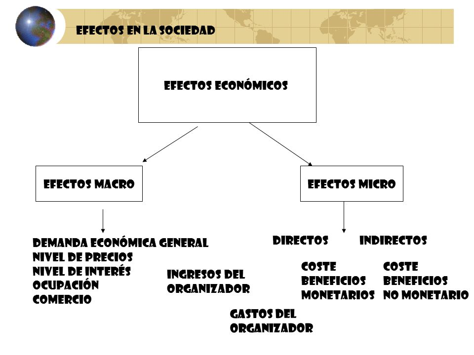 Efectos en la sociedad Efectos Económicos. Efectos Macro. Efectos Micro. Demanda Económica General.
