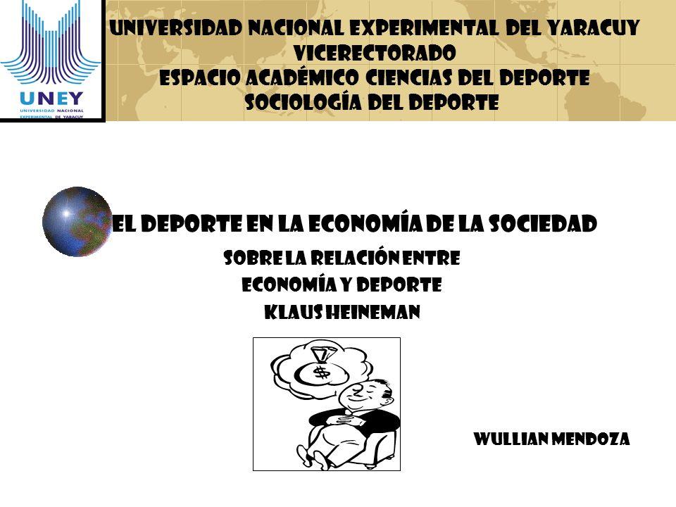 El Deporte en la Economía de la Sociedad