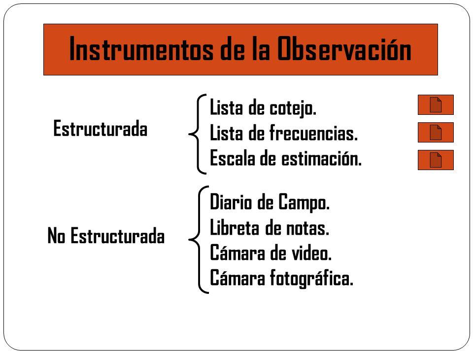 Instrumentos de la Observación