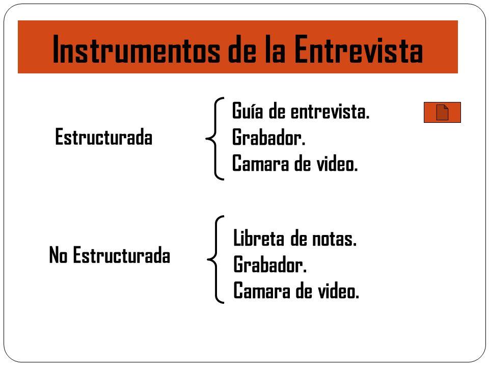 Instrumentos de la Entrevista