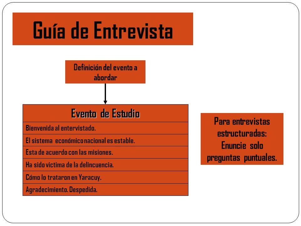 Guía de Entrevista Evento de Estudio
