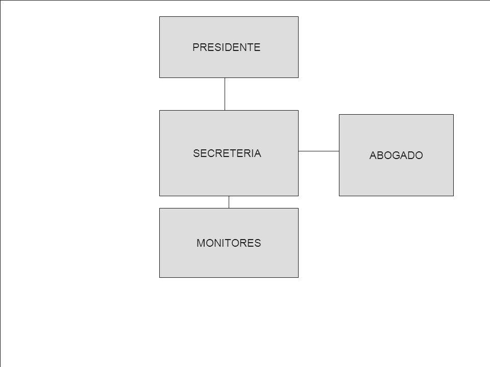 PRESIDENTE SECRETERIA ABOGADO MONITORES