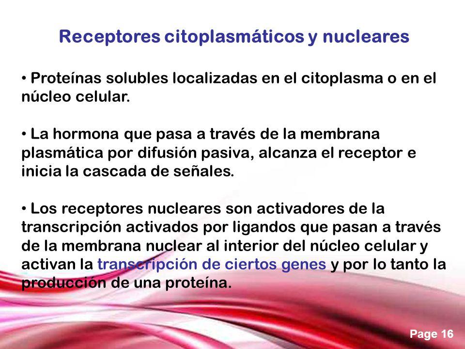 Receptores citoplasmáticos y nucleares