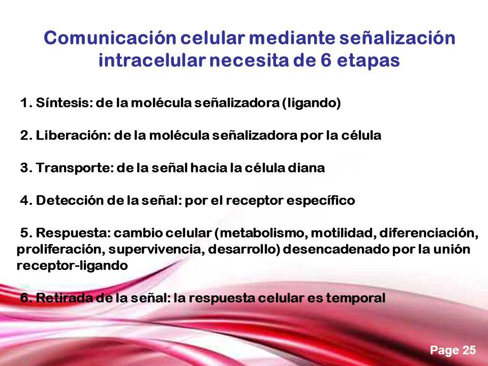 Comunicación celular mediante señalización