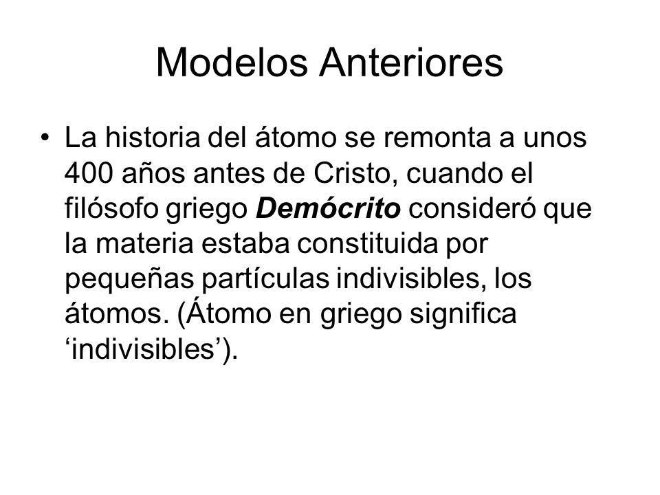 Modelos Anteriores