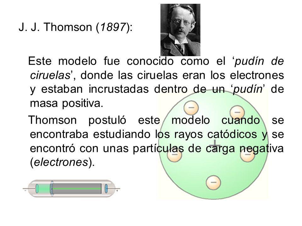 J. J. Thomson (1897):