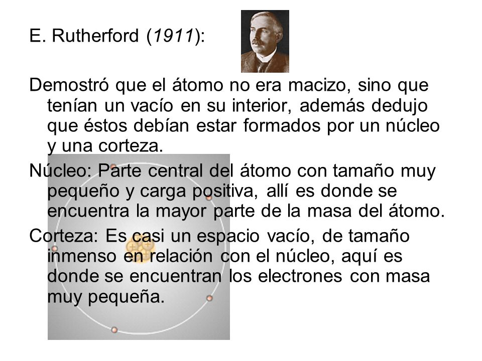 E. Rutherford (1911):