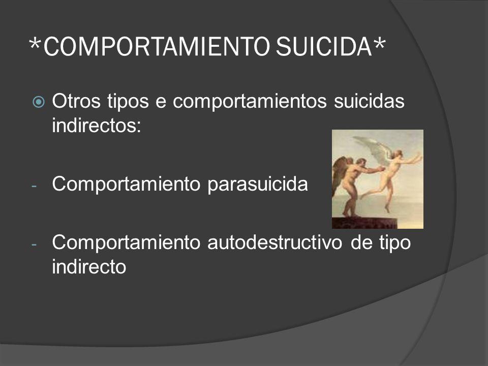 *COMPORTAMIENTO SUICIDA*