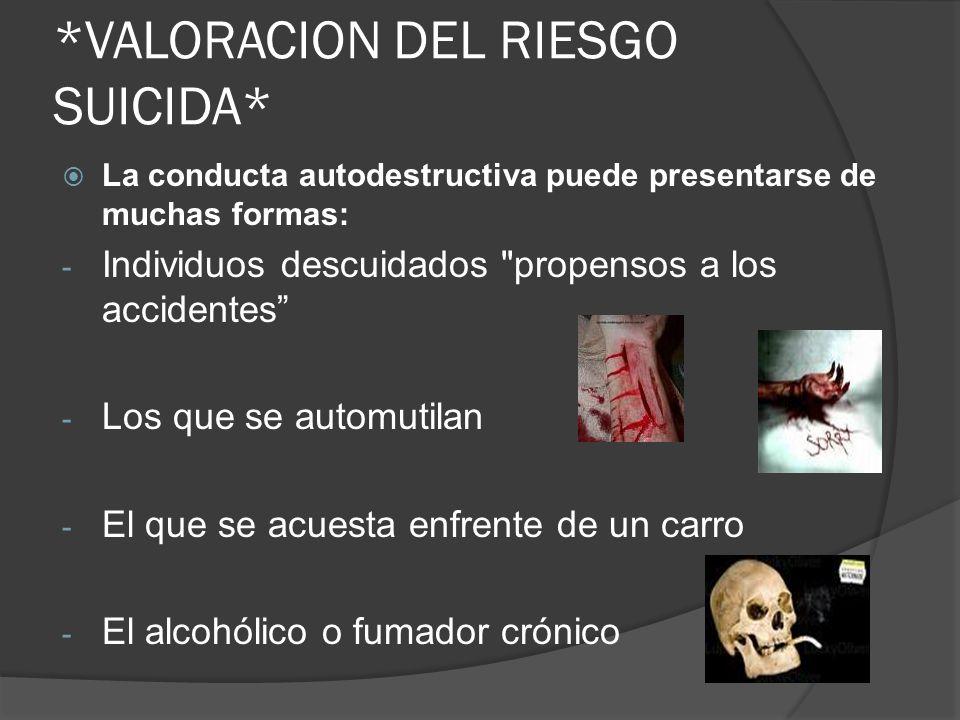 *VALORACION DEL RIESGO SUICIDA*