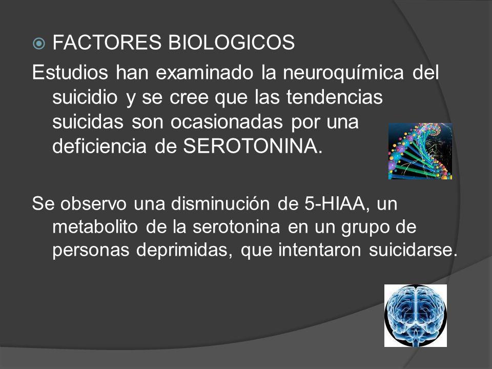FACTORES BIOLOGICOS