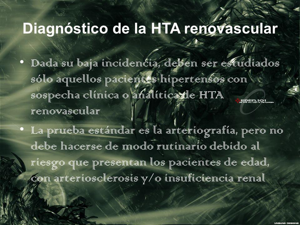 Diagnóstico de la HTA renovascular