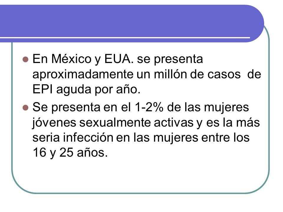 En México y EUA. se presenta aproximadamente un millón de casos de EPI aguda por año.