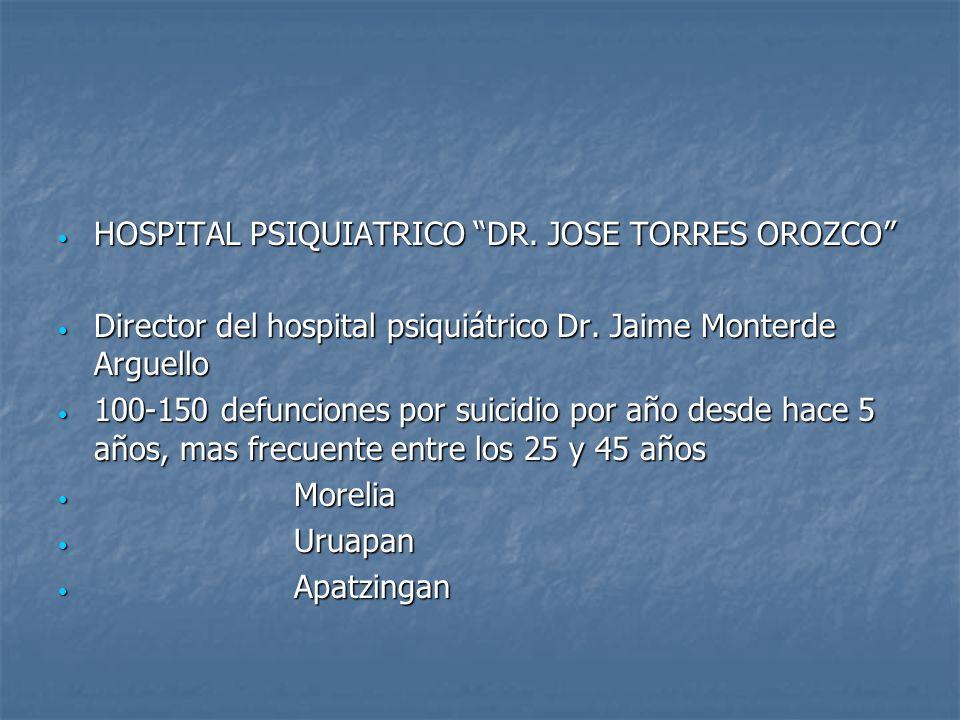 HOSPITAL PSIQUIATRICO DR. JOSE TORRES OROZCO