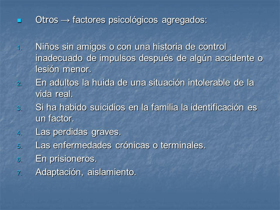 Otros → factores psicológicos agregados: