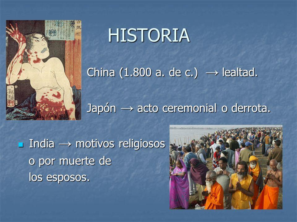 HISTORIA China (1.800 a. de c.) → lealtad.