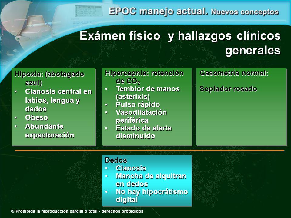 Exámen físico y hallazgos clínicos generales