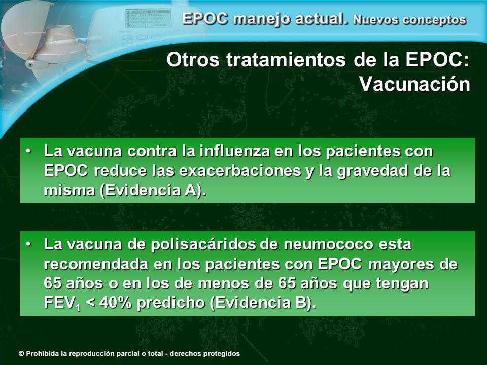Otros tratamientos de la EPOC: Vacunación