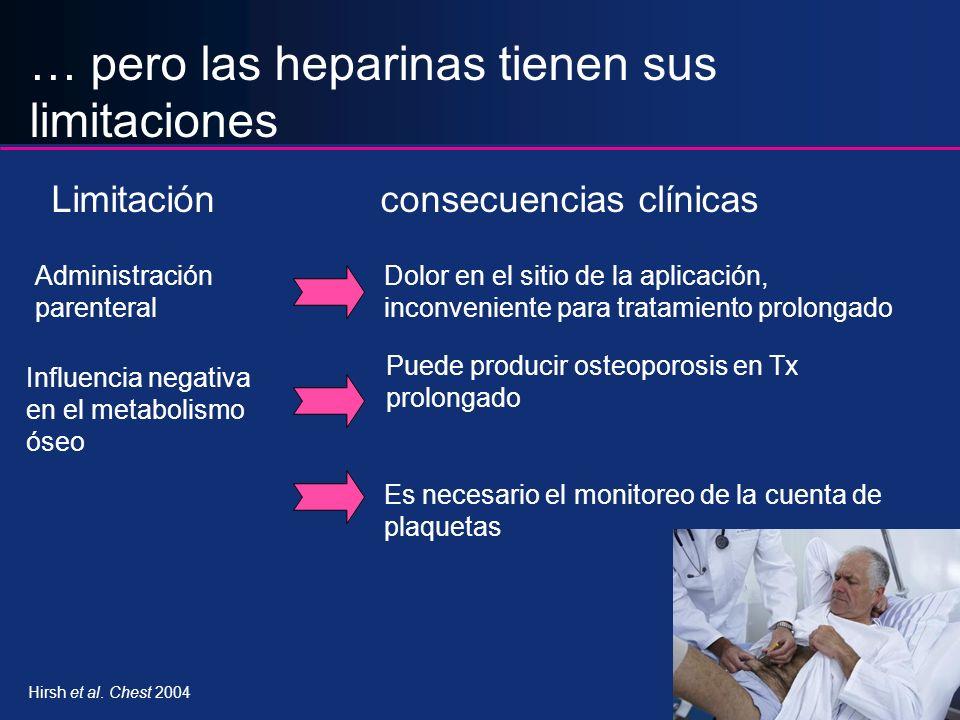 … pero las heparinas tienen sus limitaciones