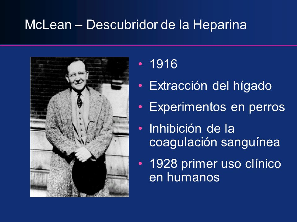 McLean – Descubridor de la Heparina
