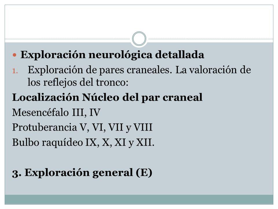 Exploración neurológica detallada