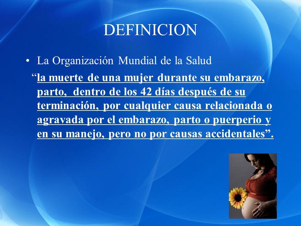 DEFINICION La Organización Mundial de la Salud
