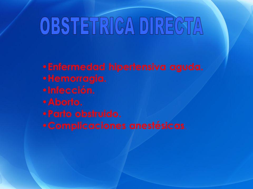 OBSTETRICA DIRECTA Enfermedad hipertensiva aguda. Hemorragia.