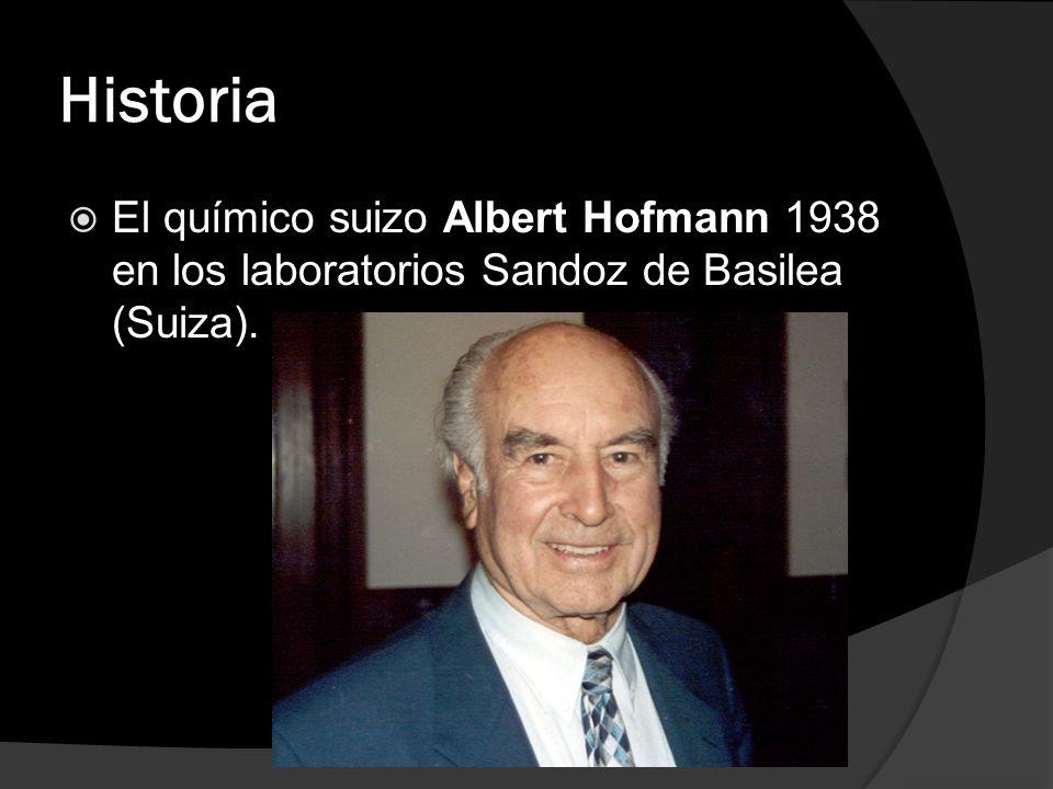 Historia El químico suizo Albert Hofmann 1938 en los laboratorios Sandoz de Basilea (Suiza).