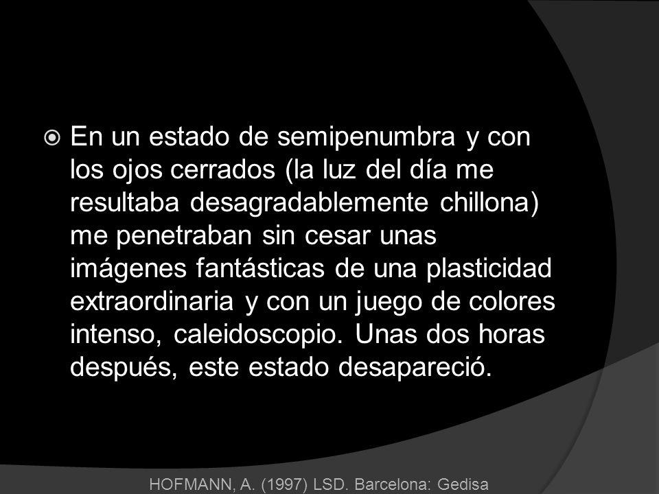HOFMANN, A. (1997) LSD. Barcelona: Gedisa