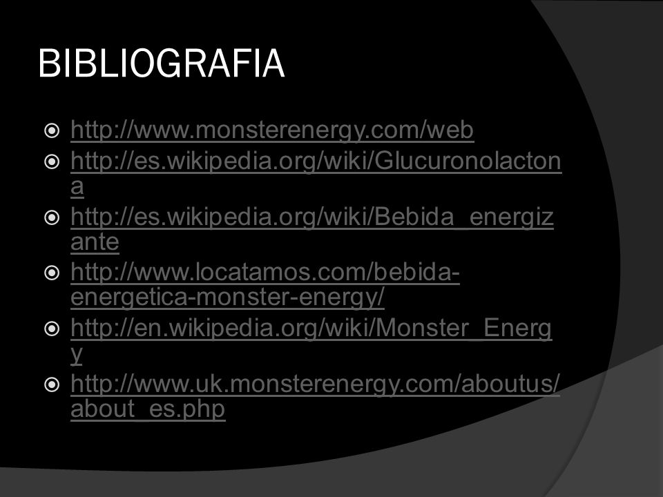 BIBLIOGRAFIA http://www.monsterenergy.com/web