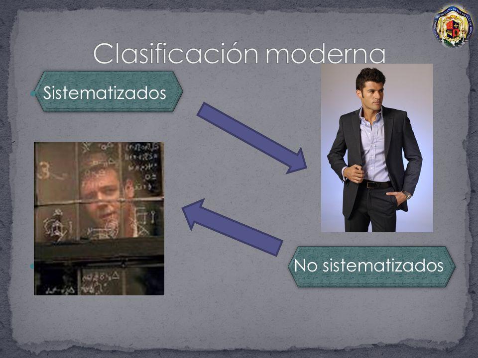 Clasificación moderna