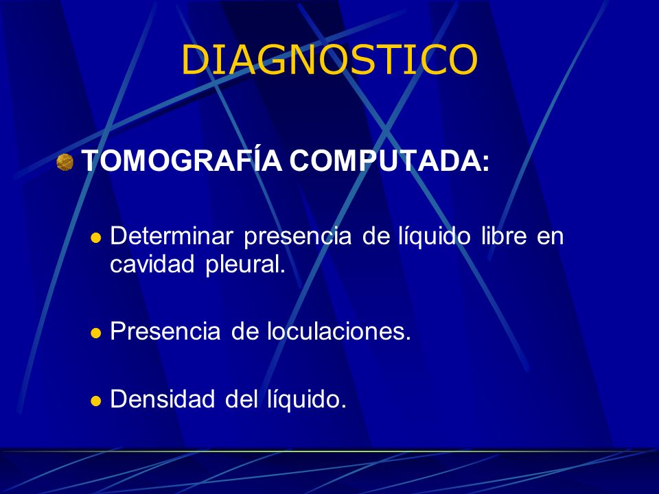 DIAGNOSTICO TOMOGRAFÍA COMPUTADA: