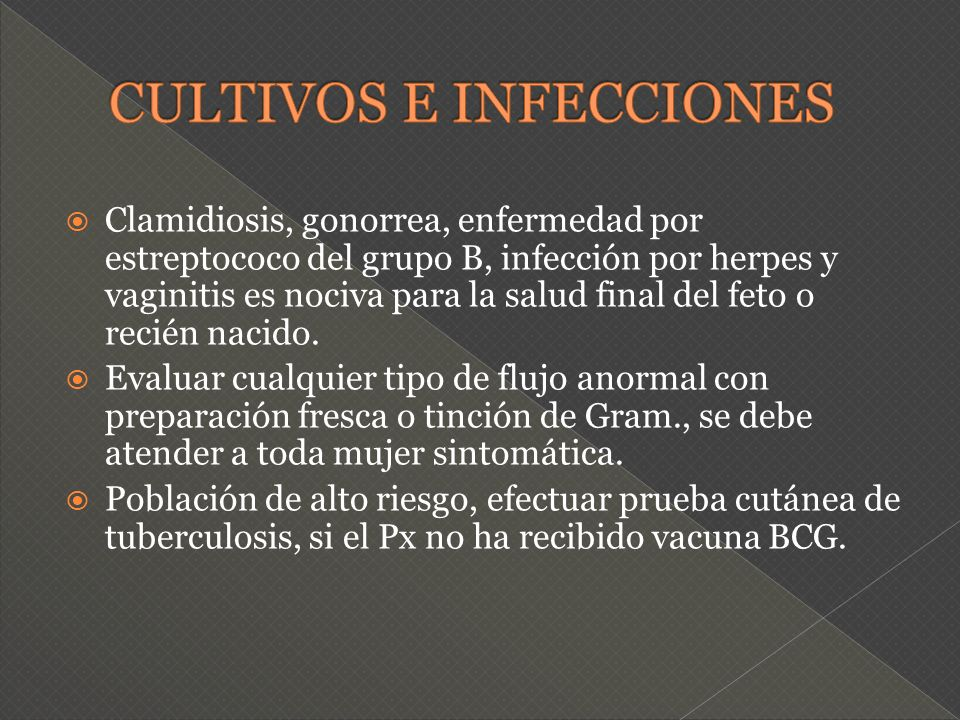 CULTIVOS E INFECCIONES