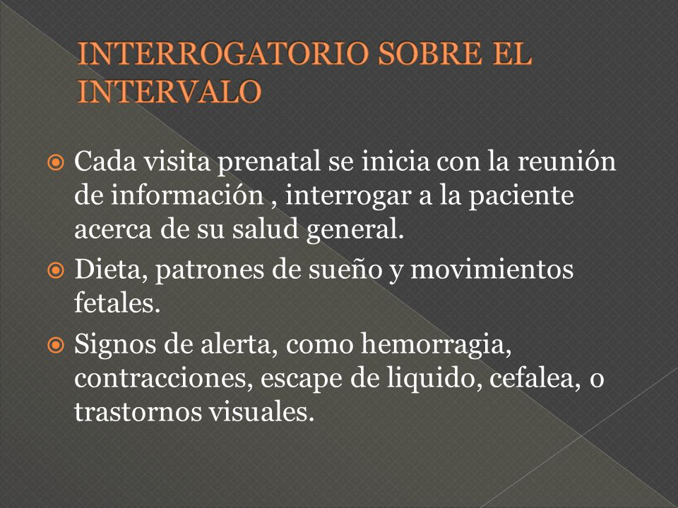 INTERROGATORIO SOBRE EL INTERVALO
