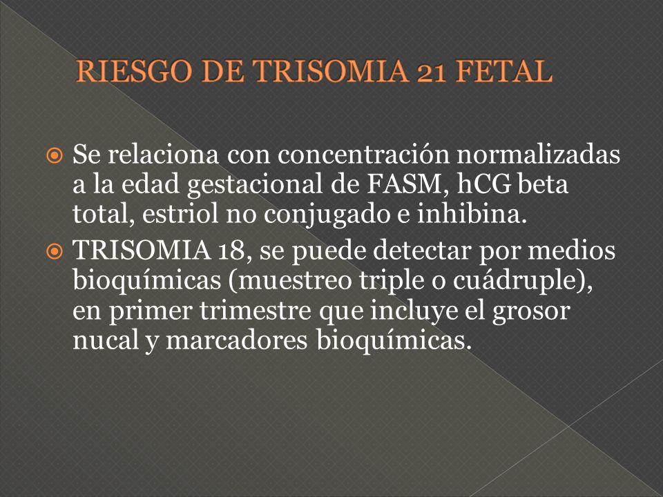 RIESGO DE TRISOMIA 21 FETAL