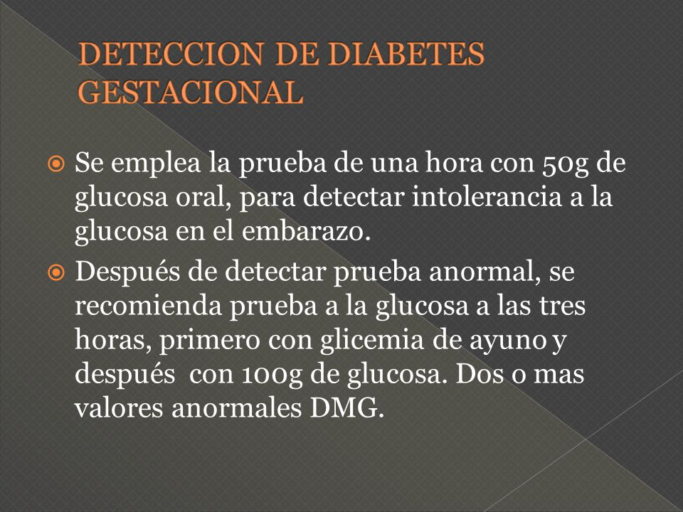 DETECCION DE DIABETES GESTACIONAL