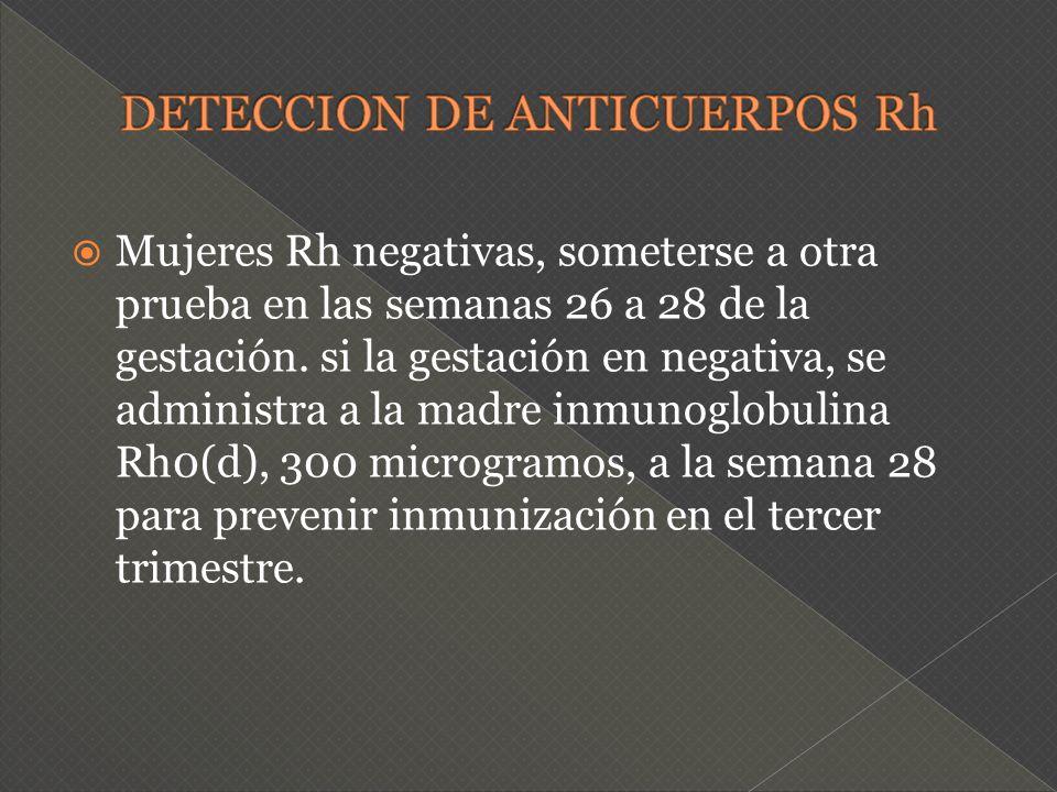 DETECCION DE ANTICUERPOS Rh