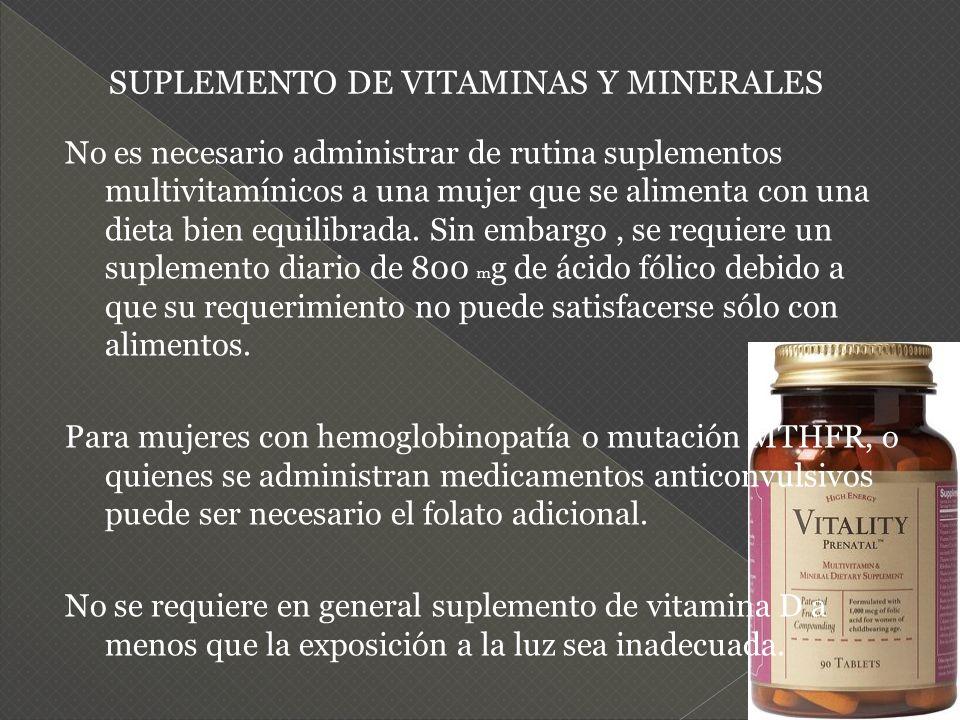 SUPLEMENTO DE VITAMINAS Y MINERALES