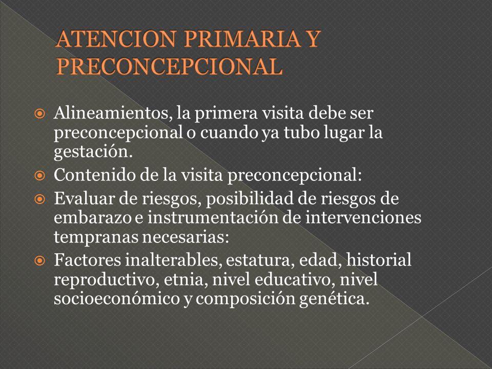 ATENCION PRIMARIA Y PRECONCEPCIONAL