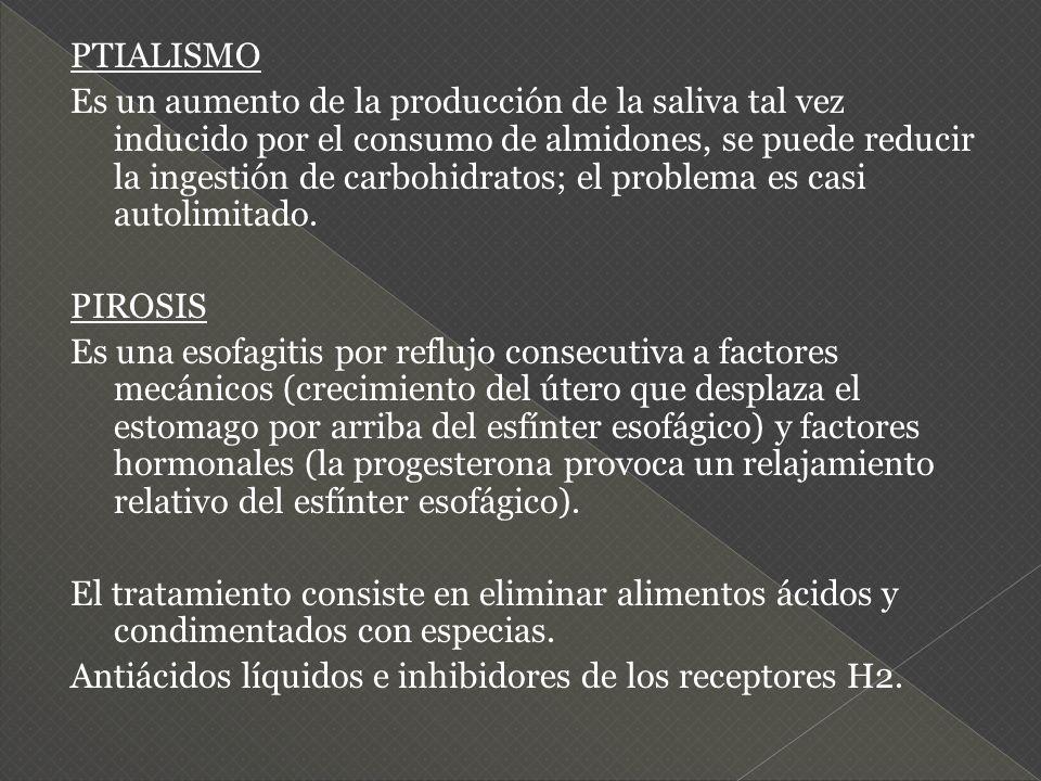 PTIALISMO Es un aumento de la producción de la saliva tal vez inducido por el consumo de almidones, se puede reducir la ingestión de carbohidratos; el problema es casi autolimitado.
