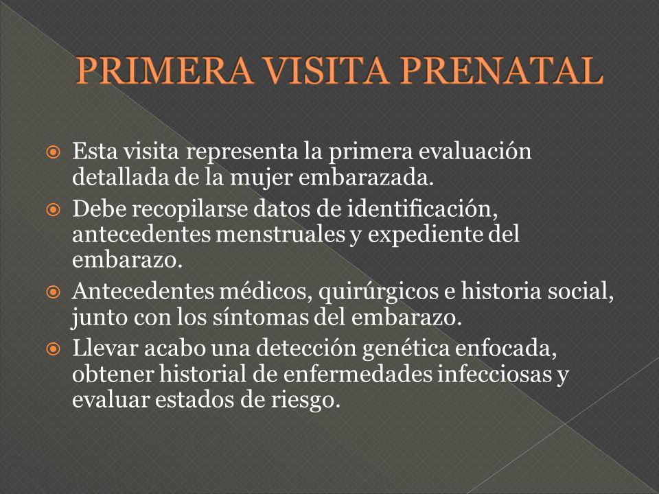PRIMERA VISITA PRENATAL