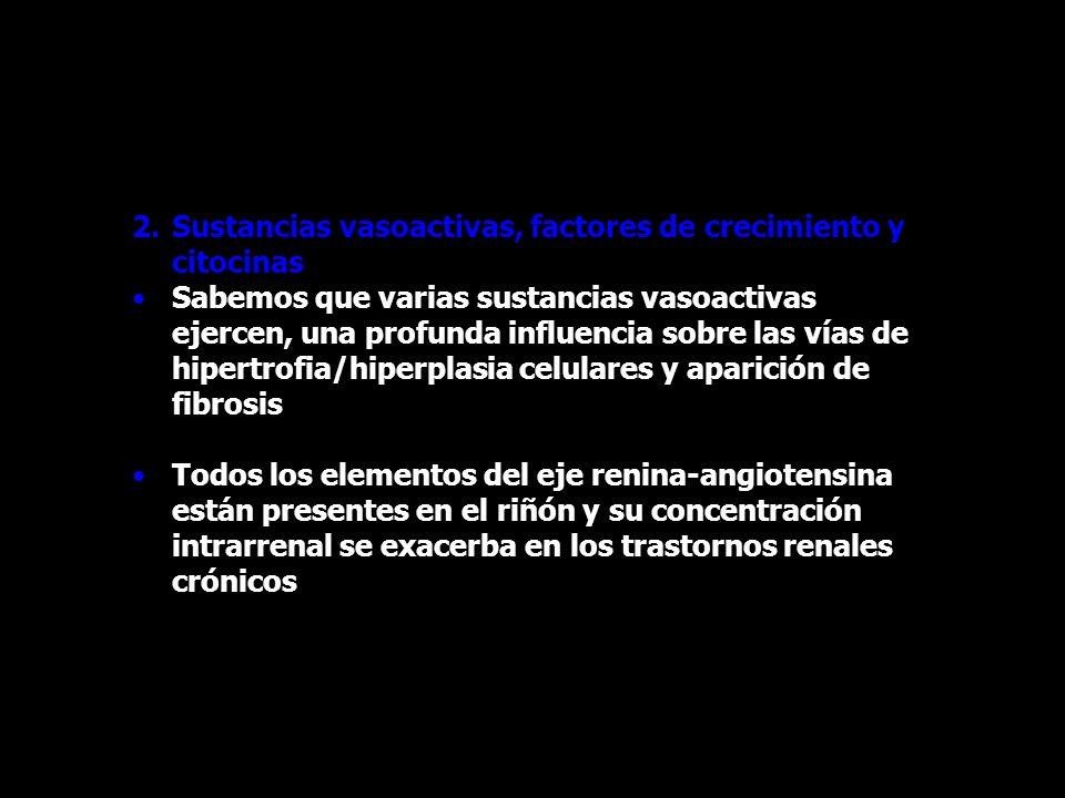 Sustancias vasoactivas, factores de crecimiento y citocinas